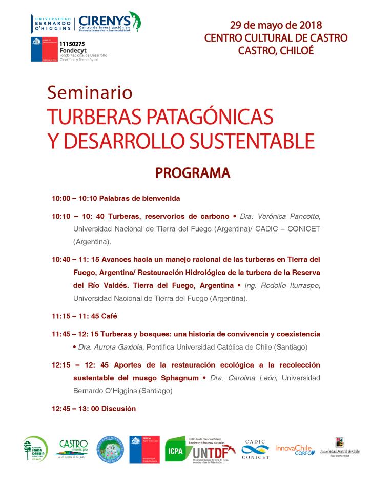 Programa Seminario Turberas Patagonicas
